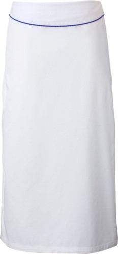 Cook apron with flap. Color white/bluette