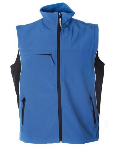 Soft shell waterproof and breathable waistcoat