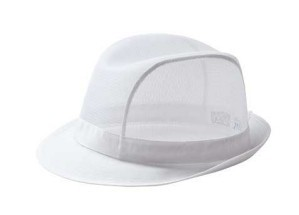 Tribly Hat in nylon net, colour white