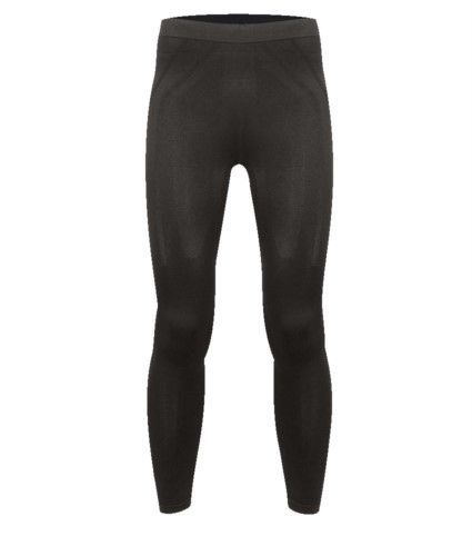 Second skin thermal tights in black thermoregulating fabric