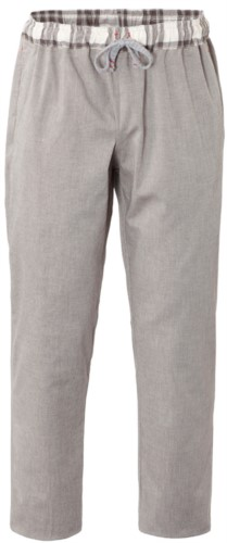 Chef trousers, closure with fabric laces, two back pockets, colour coffee