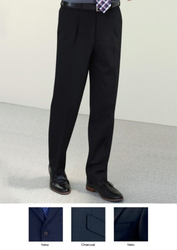 Elegant men trousers with a classic cut, two welt pockets, easy to wear, in polyester and viscose fabric. Contact us for a free quote.