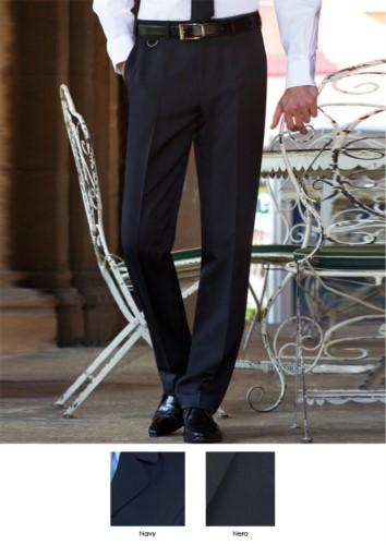 Elegant tailored fit men trousers, two welt pockets, 100% polyester. Get a free quote.