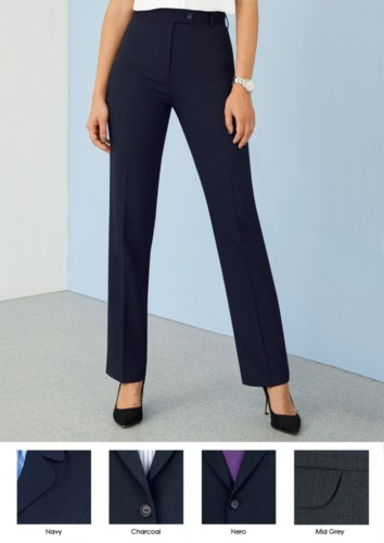 Elegant women's trousers in polyester and wool and crease resistant fabric. Ideal for receptionists, hostesses, hoteliers. Wholesale.