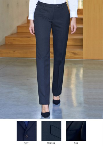 Elegant women's trousers in polyester and viscose, with a weight of 390 g/sqm. Ideal for receptionists, hostesses, hoteliers.
