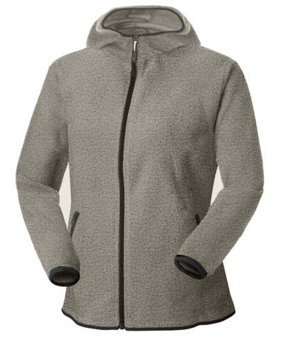 Women Knitted Jacket with Hood
