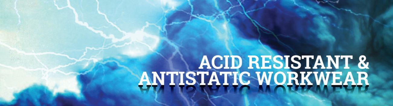 Acid resistant and antistatic workwear